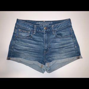 American Eagle High Rise Denim Shorts